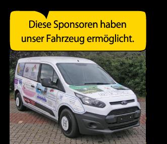 Diese Sponsoren haben unser Fahrzeug ermöglicht.