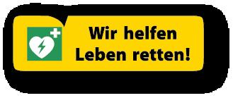 """Ein Logo mit der Beschriftung """"Wir Retten Leben"""""""