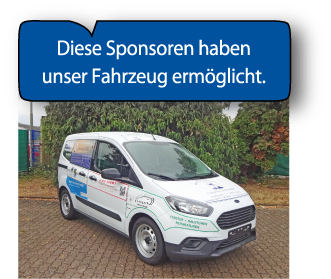 Sponsoren unseres Fahrzeugs
